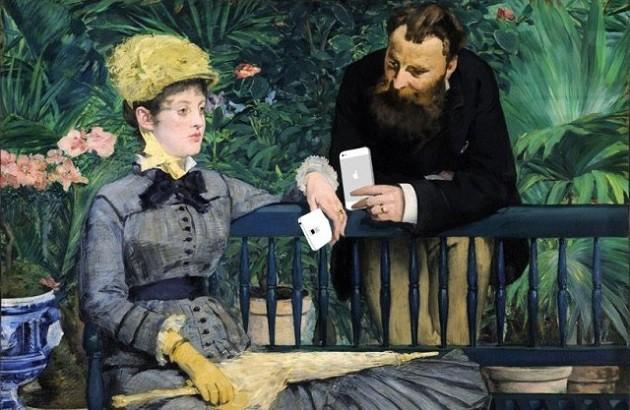 شوخی با نقاشی «در هنرستان»، اثر ادوارد مانه