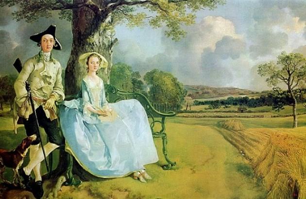 آقا و خانم اندروز، اثر توماس گینزبرو (حدود ۱۷۵۰)