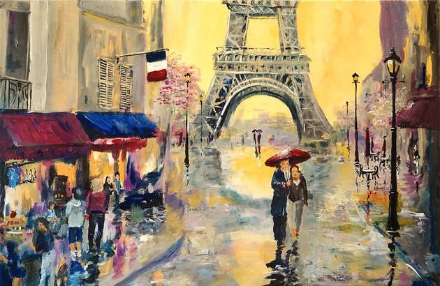آوریل در پاریس. نقاش: آلن لیکین.