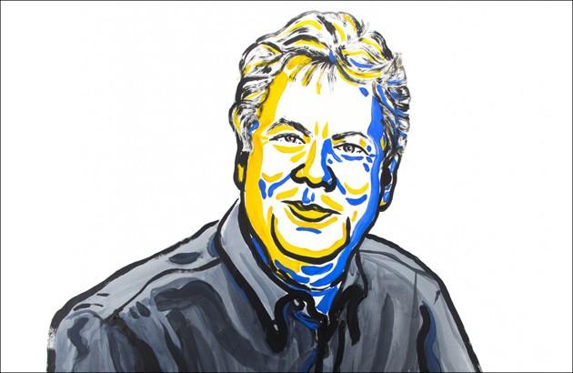 چهرۀ ریچارد تیلر، برندۀ نوبل اقتصاد. تصویرساز: نیکلاس المیهد.