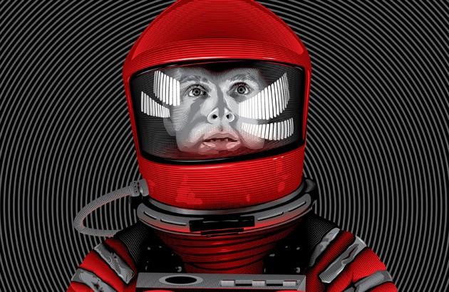 نمایی از پوستر فیلم ادیسۀ فضایی. تصویرساز: تی چینگ.