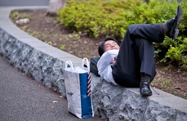 هنرِ ژاپنیِ سختکوشی در خواب