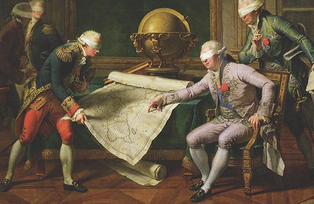 تصویرساز: درک برنی. برگرفته از نقاشی نیکولا آندره مونسو در سال ۱۷۸۵.