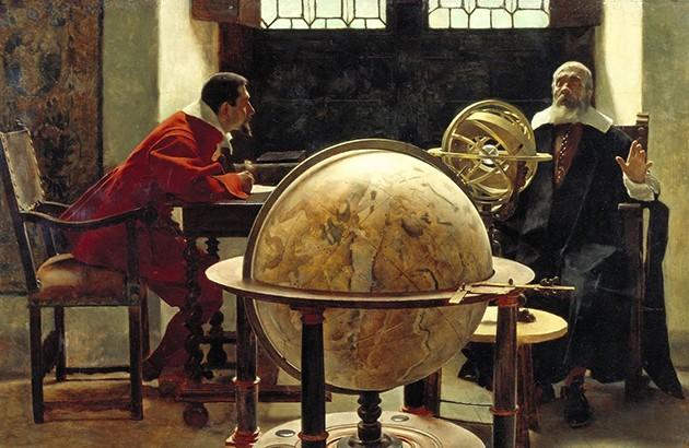 گالیله و ویویانی. نقاش: تیتو لسی.