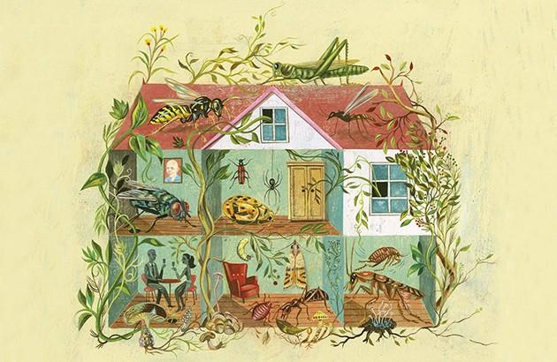 طرح جلد کتاب «هرگز در خانه تنها نیستید».