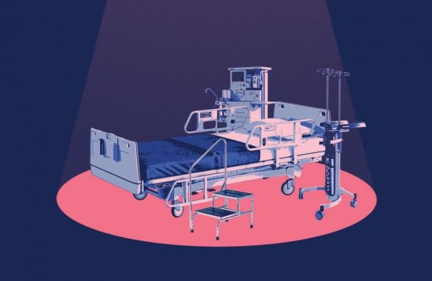 تصویر جلد کتاب مرگ با تشریفات پزشکی. طراح جلد: محمود منفرد.