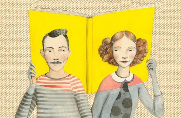 طرح جلد کتاب «اعترافات یک کتابخوانی معمولی». تصویرساز: سوفی بلکول.