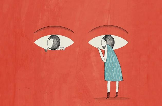 تصویر جلد کتاب «چگونه عاشق هر کسی شویم». تصویرساز: برایان ری.