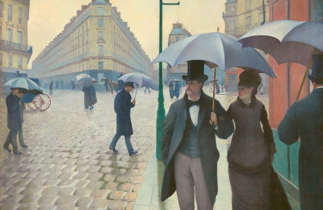 خیابان پاریس، روز بارانی. نقاش: گوستاو کایبوت.