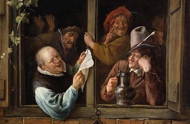 نقاش: یان استین (۱۶۶۶-۱۶۶۲).