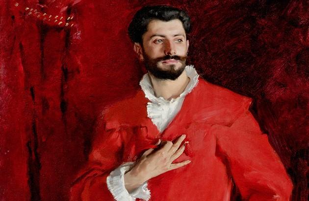 دکتر پوزی در خانه. نقاش: جان سینگر سارجنت.